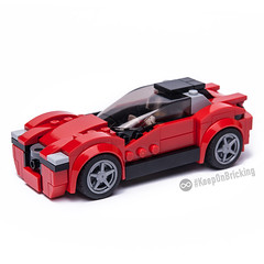 75899 alternate model (KEEP_ON_BRICKING) Tags: lego speed champions set mod moc 75899 ferrari make over remake rebrick keeponbricking sportscar red italian cardesign conceptcar vehicle legocity city