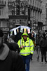 Invisible (Aethelweard) Tags: efs18135mmf3556isstm worker tickets london leicestersquare tout umbrella candid lonely invisible