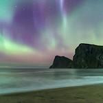 'Silken Skies' - Kvalvika, Lofoten Islands thumbnail