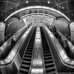 SubWayStair (Marco Pacini) Tags: marcopaciniphoto architecture architettura bn bnw blackandwhite blackwhite nyc nycphotography newyork club16 fisheye