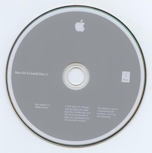 Mac OS X Install Disc 2 (22691-6175-A)(Apple Inc.)(2007)