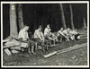 Archiv N930 Wanderung einer Studentengruppe, 1930er (Hans-Michael Tappen) Tags: archivhansmichaeltappen studenten gruppenfoto jause wanderung wald knickerbocker kleidung outfit 1930s 1930er