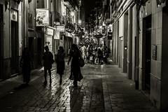 Street life..... (Dafydd Penguin) Tags: street shots life raw night after dark high iso scene urban city town light streets lane blackandwhite blackwhite black white bw monochrome alicante spain mediterranean coast coastal nikon df nikkor 50mm af f14