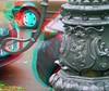 öffentliche Wasserpumpe, Berlin-Schöneberg, Odenwaldstraße (rolfmarquardt) Tags: anaglyph 3d stereo rotgrün rotcyan berlin wasserpumpe