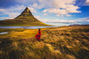 Field Free (West Leigh) Tags: iceland kirkjufell travel wanderlust wander explore experience dream discover dress woman field marvel nature naturalbeauty north live breathe present red canon6d