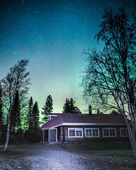Anyone home? (R.J. Photography) Tags: auroraborealis nightsky starrynight northernlights sweden nikon d750 longexposure