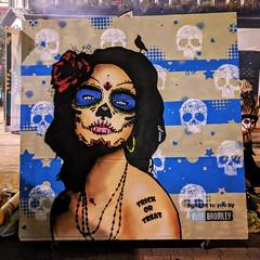 Hop-tu-naa (my mother's gone away and she won't be back until the morning) (id-iom) Tags: aerosolpaint art arts bid bromley cool dayofthedead england eyes face girl graffiti halloween head hop hoptunaa idiom lady london naa paint paintmarker sexy skull smile spray spraypaint stencil street streetart treat trick tu uk urban vandalism wall woman urbanart