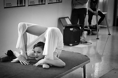 Circus Academy (Roberto Spagnoli) Tags: circo circus contorsionista contortionist biancoenero blackandwhite monocromo girl artist people spettacolo performance smile accademiadelcirco circusacademy