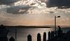 Holiday hopeful (OzzRod) Tags: pentax k1 smcpentaxda55300mmf458 sky cloud creuscular rays lake water jetty pier fisherman angler fishing boat recreation swansea lakemacquarie