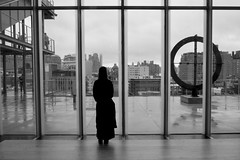 Rainy Afternoon At The Whitney (Anne Marie Clarke) Tags: geometry rain moody whitney museum gallery city terrace beautifulgeometry flickrfriday bw thursday bwblack white 7dwf