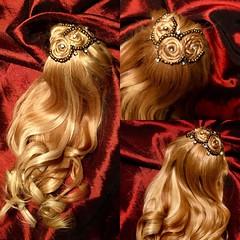 Golden Dream - That was fun ❤️ (Madrugadah) Tags: commission goldencurls alpaca handmade alpaka wig bjd