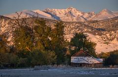Frigid morn (Bill Bowman) Tags: fallsunrise snow bouldercolorado arapahopeaks indianpeaks rockymountains sunrise