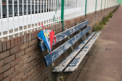 Image result for LOST UMBRELLA ON BENCH