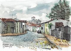 Villatoro (P.Barahona) Tags: urbano rural acuarela tinta arquitectura calle carretera cielo