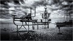 Head to Wind... (Ody on the mount) Tags: anlässe bodensee fototour friedrichshafen kunst skulpturen wolken bw monochrome sw