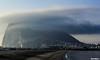 The ROCK (Mauro Hilário) Tags: gibraltar landscape rock clouds geology scenery beach marina la línea andalucia