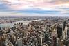 East River, Midtown Manhattan (- Anita Ao) Tags: newyork newyorkcity nyc midtownmanhattan manhattan empirestatebuilding sunset goldenhour america usa unitedstates us unitedstatesofamerica city cityscape aerialview