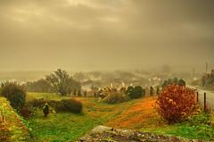 Welsh village in the mist. (alex.vangroningen) Tags: northwales mist plants village houses mountain colors stones outdoors welsh clouds