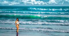 A glimpse of Miami Beach. (Aglez the city guy ☺) Tags: miamibeach miamifl seashore seascape sea woman beach beachscape beautifulpeople beachshore waves sobe urbanexploration outdoors walking walkingaround waterways