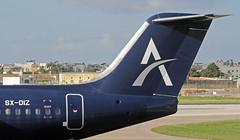 SX-DIZ LMML 26-10-2017 (Burmarrad (Mark) Camenzuli) Tags: airline astra airlines aircraft british aerospace bae 146300 registration sxdiz cn e3206 lmml 26102017