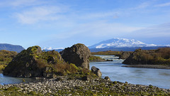 a lunchbreak spot to remember (lunaryuna) Tags: iceland landscape river snowcappedmountain water riverbed rocks solitude october exploration nature beauty thelightfantastic lunaryuna