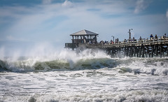 Maria Making Waves (Marc_714) Tags: marc714 wave waves storm hurricane maria nc carolina pier