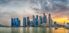 Singapore HDR Sunset (Anthony Kernich Photo) Tags: singapore marinabay singaporeriver development asia asian metropolis city cityscape downtown skyscraper building architecture tallbuilding bayfront sunset sundown panorama panoramic cityview citycenter citycentre stunning wow breathtaking magical beautiful flickr flickrheroes night setting spectacular olympusem10 olympus olympusomd microfourthirds photo photogenic travel southeastasia lioncity skyline urban cloud hdr outdoor ul autofocus
