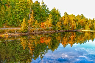 Lake Placid New York  ~ Refection in the  Water