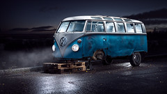 VW Kleinbus - Full (Tortured Mind) Tags: blue d800 169 widescreen dslr kleinbus suomi car varikkokatu nikkor zoom 70620 volkswagen nikon vw pohjoissavo fi 2470mmf28 lightpainting niirala kuopio