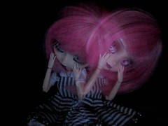 Madness (Pliash) Tags: doll madness creepy cute ghost gothic goth light painting lightpainting pink hair pullip groove family noir regeneration