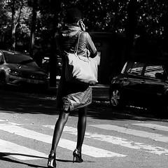 The elegant woman (pascalcolin1) Tags: paris13 woman femme élégante elegant chaussures shoes highheeledshoes chaussuresàtalon sac bag purse sacàmain photoderue streetview urbanarte noiretblanc blackandwhite photopascalcolin
