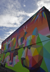 mural by OKUDART on West 4th Ave (roaming-the-planet) Tags: okudart mural publicart west4thave vancouver mountpleasant