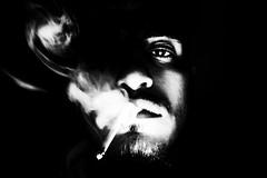 | | (Nassia Kapa) Tags: nassiakapa portrait smoke cigarette bw blackandwhite face boy light shadow
