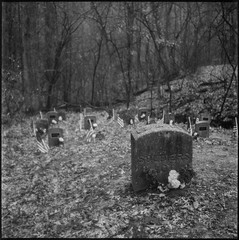 Soldier's Lot, Illinois Asylum for the Incurable Insane (argentography) Tags: peoria illinois bartonville midwest yashica 124 tmax cemetery