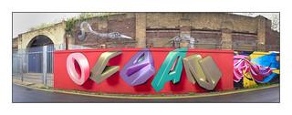 Street Art (Lovepusher), East London, England.