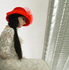 Alone in the Balcony (coollessons2004) Tags: krystalsmith woman hat red white dress sad melancholy