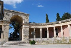 Corfú (Grecia, 12-6-2017) (Juanje Orío) Tags: 2017 corfú grecia greece soportal patrimoniodelahumanidad worldheritage whl0978 escalera arco europeanunion europe europa