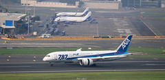 ANA (vomm_aviationpictures) Tags: planespotting planes plane photography photo spotting airplane aerodrome aircraft airport airlines airways aviation airline boeing boeing787 b787 787 ana japan mumbai bom dreamliner canon canon1200d 1200d 55250mm