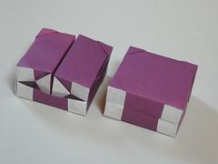 Hinged box N° 5 (Mélisande*) Tags: mélisande origami box hinge