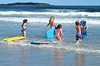 Kids Going Boogie-Boarding (Joe Shlabotnik) Tags: july2017 higginsbeach boogieboard violet 2017 maine gabriella carolina everett ocean beach afsdxvrnikkor55300mm4556ged