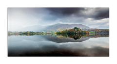 Soft Autumn Day - Explore No. 35 - 08.10.2017 (muddybootsuk) Tags: grasmere theisland autumn mists reflections nationaltrust lakedistrict cumbria northwest wordsworth unitedkingdom england greatbritain colours tree mountains landscape muddybootsuk rain water northern grimupnorth cumberland weather lakes wet canon600d sigma1020mm