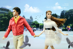 Declan & Giselle. Runaway Lovers (Ferry R.) Tags: declanwake declan wake giselle majestygisellediefendorf majesty diefendorf nuface integritytoys integrity toys fashionroyalty fashion royalty barcelona doll dolls fashiondollphotography  color infusion