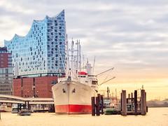 Good Morning Hamburg (mrburton75) Tags: schiffe stimmung wasser mood morning morgen san plaza elbphilharmonie philharmonie harbour hafen elbe hamburg