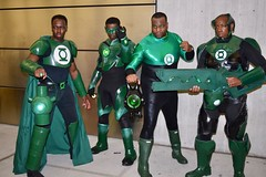 DSC_0956 (Randsom) Tags: newyorkcomiccon 2017 october7 nycc comic convention costume nyc javitscenter dccomics superhero greenlantern africanamerican corps matchingcostumes guy male man group team cosplay toygun scifi spandex