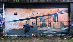 The Birds (HBA_JIJO) Tags: streetart urban graffiti animal art france hbajijo wall mur painting aerosol peinture graff friche bird murale abandoned spray urbex bombing urbain paris91 crow corbeau