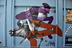 Figuration (Pensive glance) Tags: graffiti image painting all mur mural streetart artderue