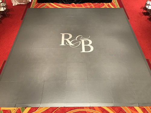 "21'x21' with 6'x8' Monogram Custom Vinyl Wrapped Dance Floor Grey/Silver Unique Events • <a style=""font-size:0.8em;"" href=""http://www.flickr.com/photos/81396050@N06/37497286640/"" target=""_blank"">View on Flickr</a>"