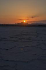 Larnaca Salt Lakes region (gavin.mccrory) Tags: cyprus europe water sun sunset nikon nikkor 35mm dslr photo larnaca larnaka landscape sky sea mountain