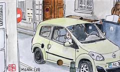 La France des sous-préfectures 77 (chando*) Tags: france croquis sketch watercolor aquarelle