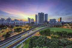 West Side (ChieFer Teodoro) Tags: canon 6d 1635mm lee filter graduated neutral density polariser arca swiss gitzo gt2541 cityscape landscape sunrise east side jurong singapore mrt